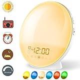 Coulax Wake Up Licht Lichtwecker Tageslichtwecker Wecker mit 20 Helligkeitseinstellungen & 7...