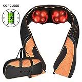 Kabelloses Nackenmassagegerät Shiatsu Massagegerät für Nacken Schulter Rücken, 3D-Rotation...