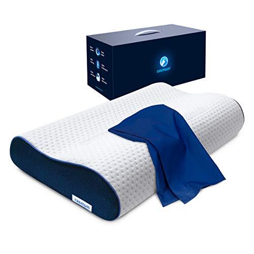 Nackenstützkissen mit Bezug, Schlafkissen für Seitenschläfer und Rückenschläfer - Ergonomisches...
