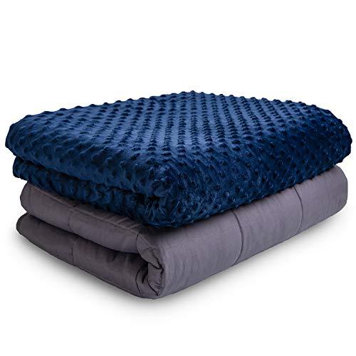 VAN BEEKEN Gewichtsdecke Therapiedecke mit Bezug für Erwachsende und Kinder I Weighted Blanket als...