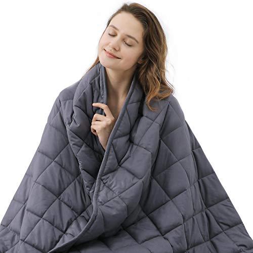 ZZZNEST Therapiedecke Anti Stress, 7.2 kg Gewichtsdecke für Erwachsene und Kinder, Beschwerte Decke...