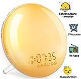 Wake Up Light Tageslichtwecker Sonnenaufgang - Lichtwecker mit Radio für Kinder & Erwachsene,...