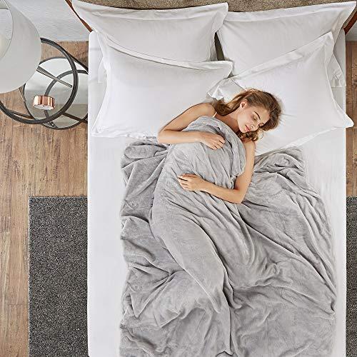 Gewichtsdecke für Erwachsene Therapiedecke Schafdecke Schwer Weighted Blanket Schwere Decke mit...