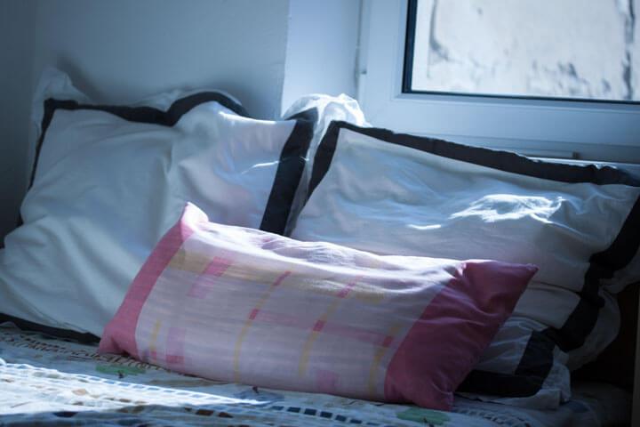 Falsches Schlafkissen