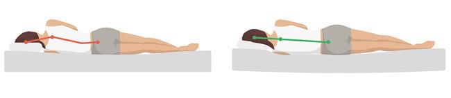 Falsches Schlafkissen - Kissen zu flach