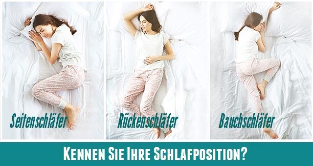 Ihre Schlafposition